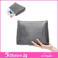 Rose Pattern Cosmetic Makeup Bag Case Grey Travel Toiletry W...
