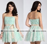 White Lace and Mint Green Bridesmaid Dresses Cheap Under 90$...