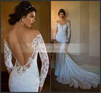 Hot !New Arrival Vintage Lace Wedding Dresses V Neck Beaded ...
