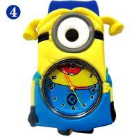 2015 Eye 3D Despicable Me Minion reloj de la palmada Precious relojes Leche papá Niños Relojes Slap Snap On silicona de cuarzo reloj de pulsera