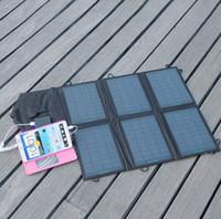 Портативный 18V 21W Панель солнечных батарей зарядное устройство двойной выход 5V USB и 18В постоянного тока Солнечное зарядное устройство
