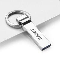 EAGET U90 Tablet PC USB 3.0 Portable Storage memoria Full Metal Flash Pen Drive Encryption impermeabile con portachiavi C2160