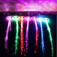 LED Наращивание волос Красочные LED вспышкой волосы оплетки зажим для волос Новинка украшения для Хэллоуина Рождество партии праздника