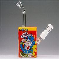 Liquid Sci Glass Bong CAPN CRUMBS Cereal Box Oil Dab Rig Wit...