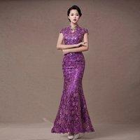 Hot Sale Silk Slim Chinese Long Cheongsam for women Dress Im...
