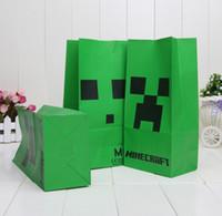 1000pcs Minecraft Popcorn bag Creeper Minecraft party bag Fo...