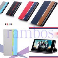 Comercio al por mayor de encargo del cuero de la PU Wallet Book Covers caso de Shell para EDGE Samsung Galaxy A7 A5 A3 E7 E5 S6 S6 para HTC uno M9 M8 M8 ojo