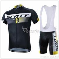 cycling suit Scott Men Cycling jerseys black short sleeve bi...