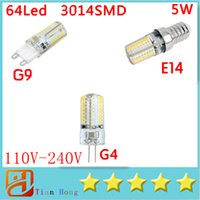 3014SMD 64LED G9 E14 G4 110V- 240V Led Light Enery Saving Cry...