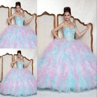 Fabulous Colorful Fashion Quinceanera Dresses Sweetheart Bal...