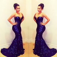2015 New Fashion Evening Dresses Mermaid Sweetheart Sequined...