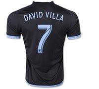 Thai Quality 15 16 New season 7# DAVID VILLA Away Soccer Jer...