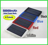 Портативный 50000mah Солнечное зарядное устройство батареи питания банка 50000 мАч резервного двойной зарядки Порты Чрезвычайная внешнее зарядное устройство для сотового телефона