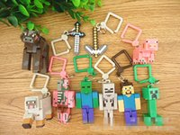 New Minecraft Creeper Complete Diamond Necklace Key Hang Buc...