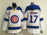 Детеныши # 17 Kris Bryant свитер пуловер белый бейсбол толстовки мужские свитера бейсбола # 12 Schwarber # 44 Rizzo # 49 Аррьета # 68 Soler Доступен