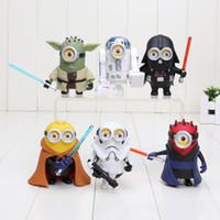 6pcs set 8CM Minions Minion Cos Star Wars Yoda Darth Maul Da...