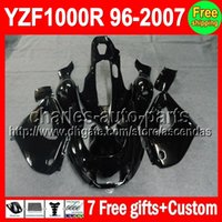 ALL Black Kit 7gifts For YAMAHA YZF1000R 96- 07 YZF 1000R 96 ...