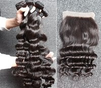 7A Brazilian Hair Weave Wavy Loose Deep Wave 1PC Free Part T...