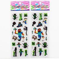 Minecraft Sticker 3D Cartoon party Decorative book Stickers ...