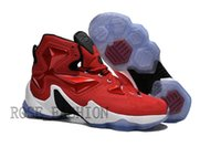 Cheap LeBron 13 HOME Basketball Shoes University Red White B...