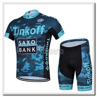 Free shipping cycling clothes Tinkoff saxo bank cycling jers...