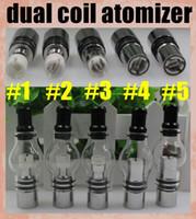 Bobine double Globe atomiseur Verre Réservoir Dome Cire Pour Vaporisateur sec Herb Double céramique et titane Wick 2015 Top Fashion Direct Selling ATB029