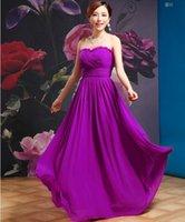 Christmas dresses Lastest purple Dresses for women A- line Ev...