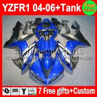 7gifts Factory blue For YAMAHA YZF- R1 04- 06 YZF R1 R 1 YZF10...