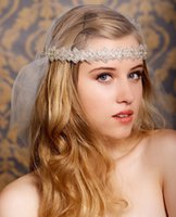New Luxurious Crystal Beaded Bridal Ribbon Headband Bridal H...
