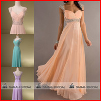 2015 Long Evening Dresses Crystals Beaded Sequins Prom Dress...