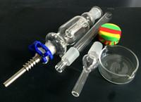 Spring Sale Nectar Collector Kit Boîte cadeau Venez avec Titane Nail Quartz Nail Dabber Dish Keck Clip 10mm / 14mm / 18 Joint Water Pipes
