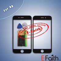 Pour iPhone 6 Front Verre Extérieur Housse Ecran Tactile pour iphone 6 Pièces de Réparation 4.7 pouces Noir Blanc avec outils ouverts
