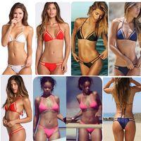 2015 nova malha triangular sexy biquíni senhoras biquíni swimwear vender quente swimwear feminino comércio exterior
