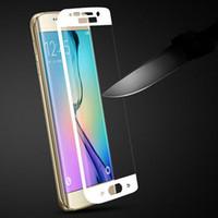 Galaxy S6 bord plus Full Cover Curved Side en verre trempé Film de protection écran ultra-mince 2.5D 0.26mm Pour Galaxy 6 S6edge