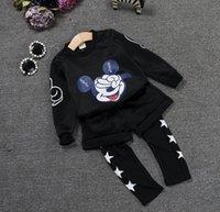 2015 Boys Girls 2pcs Causal Sets Cartoon Mickey Mouse Shirt ...