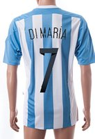 Customized Argentina home #7 dimaria soccer jerseys, Copa Ame...