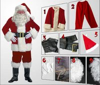 9pcs set Santa Claus clothing male Christmas clothing Christ...