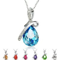 72pcs 2015 new arrive Sterling Silver Necklace Luxurious Blu...
