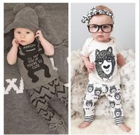 2015 Cute Baby Girls Boys summer Outfits Set infant Cartoon ...