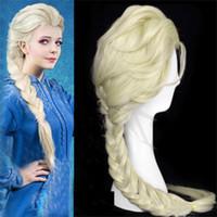 Children Adult Princess Frozen Wigs Snow Queen Elsa Weaving ...