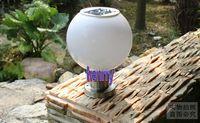 Ball Solar Street Lights. Column headlights. Outdoor landsca...