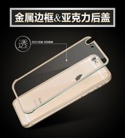 Transparent Acrylic Glass Back Cover With Aluminum Metal Bum...