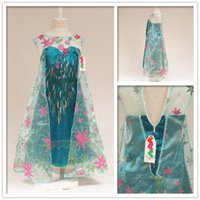Girls Dress New Frozen fever Elsa gauze Dresses 2015 Girls s...