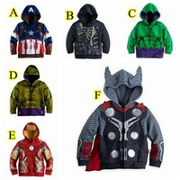 The Avengers Costume for Kids Boys Iron Man Thor Hulk Jacket Children Hoodies Sweatshirt Boys Girls