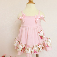 NEW ARRIVAL baby girl infant todder outfits sets satin flowe...