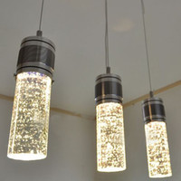Free shipping Modern LED Bubble Column Crystal Hanging Lamp ...