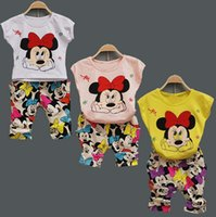 Children Cute Minnie Mouse Clothing Sets 3color Baby Girls S...