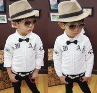 Boys Eyes Letter Printed Shirts 2015 Spring Korean Fashion C...