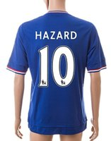 15- 16 Season 2015 #10 HAZARD blue home Soccer Jersey, Customi...