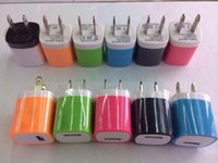 For iPhone6 S6 Candy Colored US Plug USB Power Wall Home Tra...